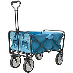AIMCAE Beach Wagon Sports, un Cochecito para Uso General al Aire Libre Plegable con Mesa Plegable y Soporte para Bebidas, práctico,E