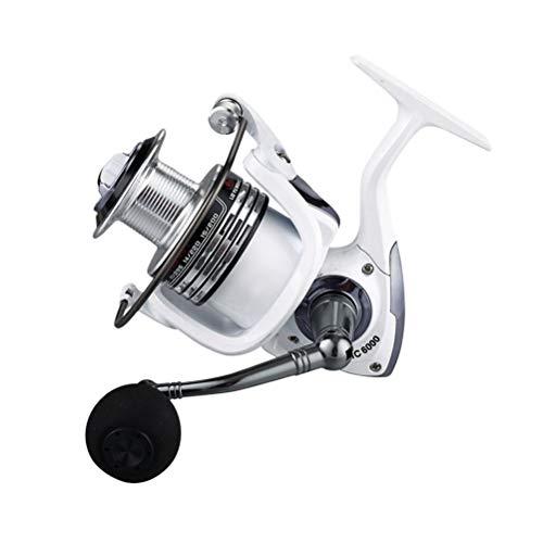 BESPORTBLE HC5000 Angelrolle Aluminium Spinning Angelrolle für Salzwasser oder Süßwasserfischen (Perlweiß)