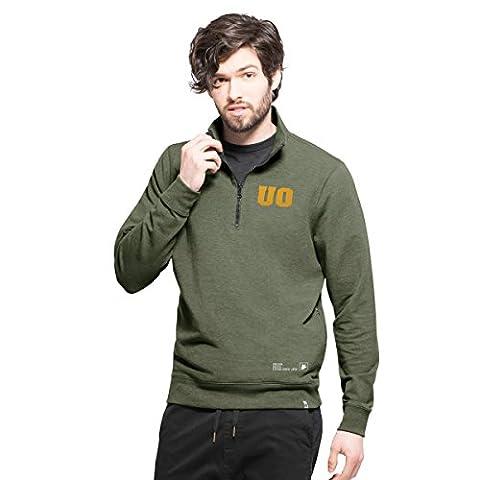 NCAA Oregon Ducks Men's '47 React 1/4-Zip Pullover Jacket, XX-Large, Shift Green