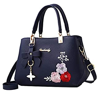 41GdGyV71uL. SS324  - Leathario Bolso de Mano Bandolera Hombro para Mujeres Mensajero Grande de PU Shopper Viaje Casual Compras de Moda