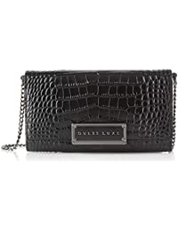 GUESS Belle Chain Wallet, Cartera. para Mujer, Negro (Black), 4x11x19 Centimeters (W x H x L)