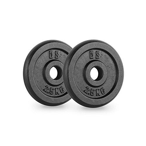 Capital Sports IPB 2.5 Hantelscheiben Paar 30 mm 2,5 kg schwarz -