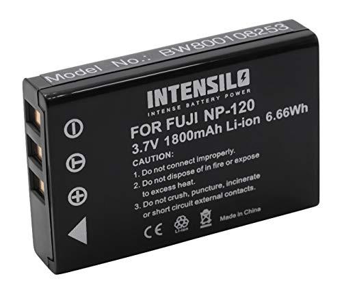 INTENSILO Akku passend für Aiptek PocketCinema T10, T15, T30, V10, V10 Plus, V20 ersetzt NP-120 (1800mAh,3.6V, Li-Ion)
