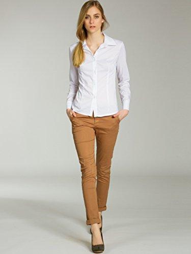 CASPAR KHS037 Damen Baumwoll Chino Hose Skinny Fit Ocker