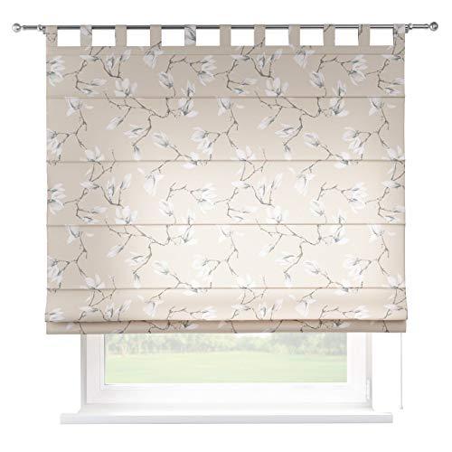 Dekoria Raffrollo Verona ohne Bohren Blickdicht Faltvorhang Raffgardine Wohnzimmer Schlafzimmer Kinderzimmer 130 × 170 cm grau- beige Raffrollos auf Maß maßanfertigung möglich