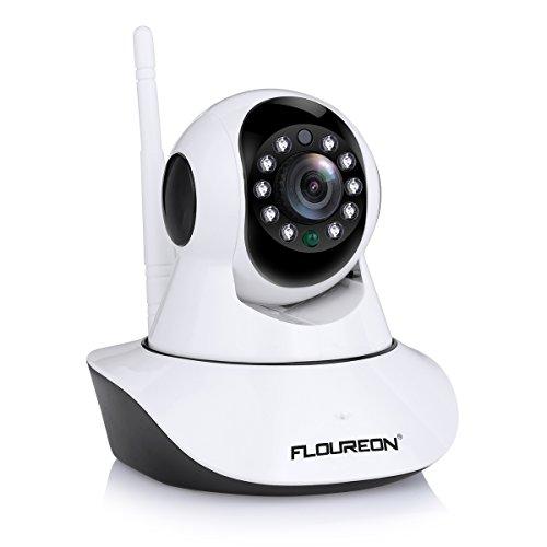 FLOUREON 720P IP Kamera Wlan Überwachungskamera Pan / Tilt ONVIF IP Cam P2P Netzwerkkamera Baby Monitor 2 Wege Audio IR Nachtsicht Bewegungsmelder