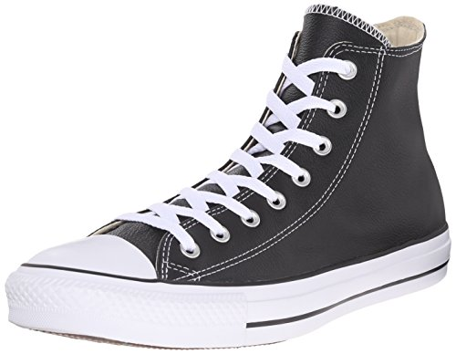 Converse All Star Hi Leather, Scarpe da Ginnastica Unisex-Adulto, Black, 42.5 EU