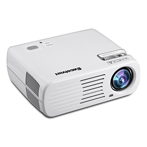 Excelvan EHD11 Videoproiettore (LED Proiettore 2600 ANSI Lumen Multimedia Home Cinema Theater 800*480RGB, supporto 1080HD, USB, AV, HDMI, VGA, TV, Smartphone) Bianco