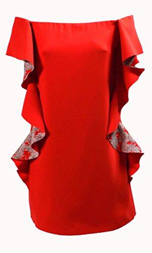 Robe Femme PINKO OMEGNA Corto Printemps Été 2017 Rouge