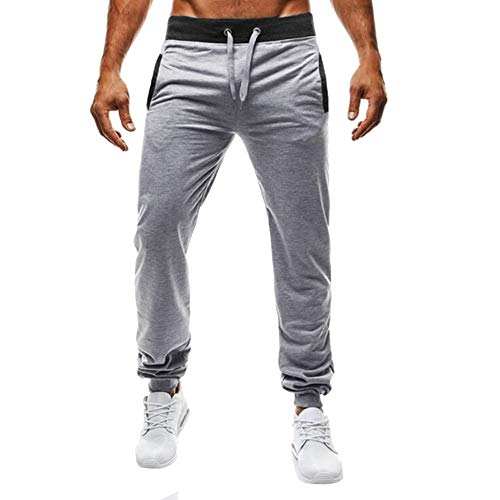 Homme Sport Running Cargo Hiphop Pantalons Crayon Casual Slim Fit Jogging Fitness Gym Pants Respirant Poches Baggy Sarouel Yoga (3XL, Noir)