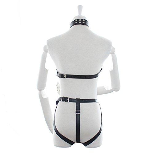 Summens Damen Männer Leder Bikini Harness Harnais Riemenbody PU Leder Einstellbar Sklaven Körper Fesseln Fetisch SM & Bondage Rollenspielen