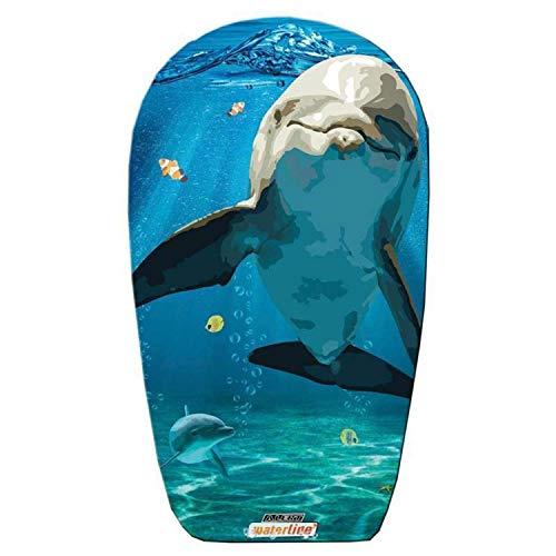 Otto Simon Bodyboard mit glatter Unterseite | Delfine