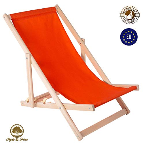Amazinggirl Chaise Longue de Jardin en Bois Fauteuil Relax - Chaise de Plage Pliable réglable Pliante pour Balcon Traditionnel Pliant Bois Jardin Plage Chaises