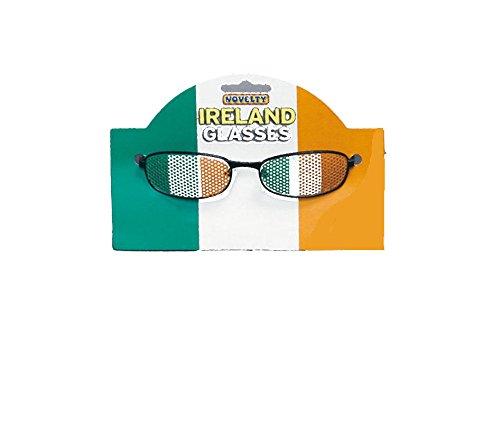 St Patrick''s Tag Irisch Paddy''s Grün Neuheit Maskenkostüm Zubehör - Irisch Flag Brillen, Einheitsgröße