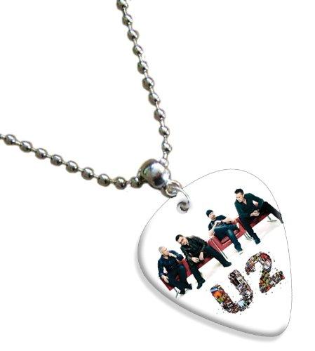 U2 Bono Doble Cara Guitarra Plektrum Plektron Recogida Cadena, Kette