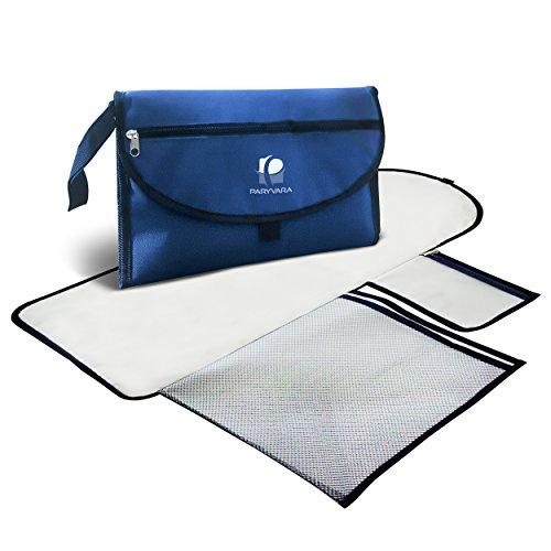 Kunststoff-matratze-protector (Baby-Wickelunterlage, tragbar und wasserdicht Gepolstert mit großen Steckfächern Ideal für zu Hause oder auf Reisen)