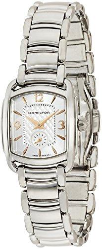 Hamilton Damen Analog Quarz Uhr mit Edelstahl Armband H12351155