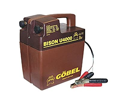 Göbel Weidezaungerät Batteriegerät Bison U 4000 bis 18km Zaunlänge 1,30J 9V 12V ohne Batterie von Göbel auf Du und dein Garten