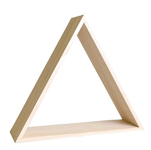 Artemio 14002232- mensola da decorare, forma triangolare, in legno, 35x 30x 10cm
