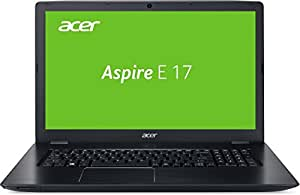 Acer Aspire E 17 (E5-774G-553R) 43,9 cm (17,3 Zoll Full HD) Laptop (Intel Core i5-7200U, 8GB RAM, 128GB SSD, 1000GB HDD, GeForce 940MX, DVD, Win 10) schwarz