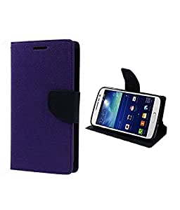 Mercury Goospery Fancy Diary Wallet Flip Cover Case for Sony Xperia C3 - purple