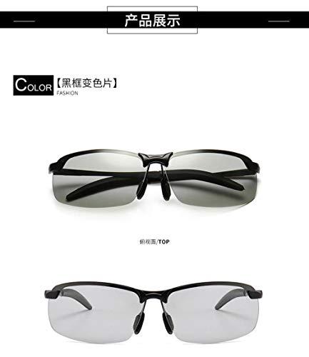 Tag- und Nachtfahrerspiegel, intelligente Sonnenbrille mit automatischem Farbwechsel,mit UV-Schutz, Trend-Sonnenbrille mit großem Gestell, Strandspiegel für den Außenbereich, Herren und Damen, A3