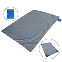 SAMENY Mini Pocket Picnic Blanket Durable Lightweight Waterproof Sand Proof Beach Camping Travel Mat with Portable Bag for Outdoor Activities, 100 * 145cm