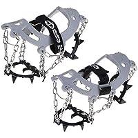 B Baosity Crampones Antideslizantes Nieves Escalada En Hielo Zapatos Actividades Aire Libre Equipo - Negro 12