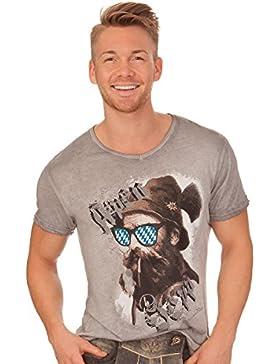 Trachten Herren Shirt - BEPPI BAVARIA - grau