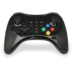 JinSu Wireless Controller Kompatibel mit Nintendo Wii U, Drahtloser Controller für Wii U, Klassische Gamepad-Fernbedienun( Schwarz )