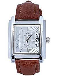 Jack Klein Synthetic Leather Analog Square Wrist Watch