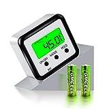 FOLAI Digitaler LCD Winkelmesser Neigungsmesser Inklinometer Wasserdicht Bevel Box Winkelmessgerät Magnetfuß Wasserwaage (Batterie enthalten)