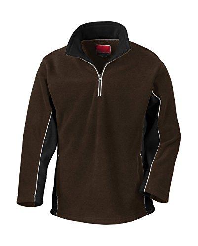 Tech3 Fleece-Sportsweatshirt mit 1/4 Reißverschluss L,Coffee/Black (Mit 0,25)