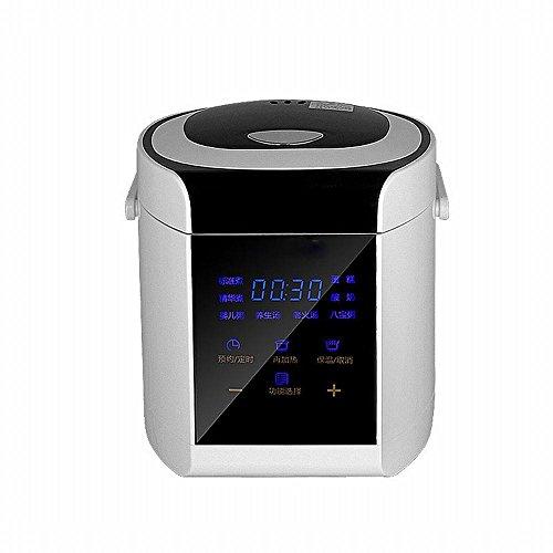 F Rice cooker Multifunktionale 1-2-3-4 Kleinen Reiskocher Intelligente Verabreichung Mini Reiskocher 2,5 Liter,Weiß (Sushi Wanne)