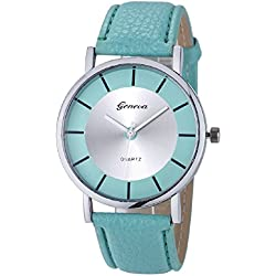 Mallon® Women Retro Dial Analog Quartz Wrist Watch Mint-Green