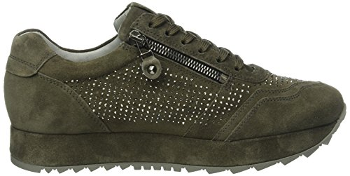 Kennel Und Schmenger Schuhmanufaktur Cat, Baskets Basses Femme Vert (smoke/gunmetal Sohle smoke 465)