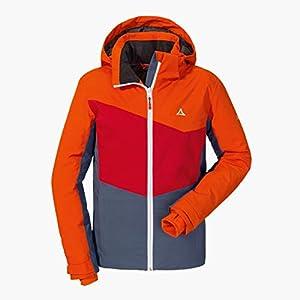 Schöffel Mädchen Jacket Brescia3 warme und farbenfrohe Skijacke für Mädchen, wasserdichte und atmungsaktive Winterjacke mit Skiticket-Tasche