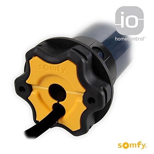 Preisvergleich Produktbild Somfy Elektronischer Funk Rolladenmotor Oximo 50 io 15/17 | 15 Nm inkl. drei Hochschiebesicherungen (getestet von DIWARO), Motorlager. Anschlusskabel und SW 60 Adapter / Mitnehmer.