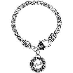 219164f67eb9 Pulsera de eslabones de estilo vikingo para protección rúnica con el  símbolo Wolfsangel