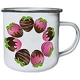 Nuevas Fresas Con Chocolate Retro, lata, taza del esmalte 10oz/280ml l106e