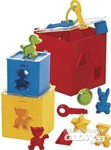 Gowi 453-21 - Set de Cubos apilables con Formas encajables (12 Piezas)