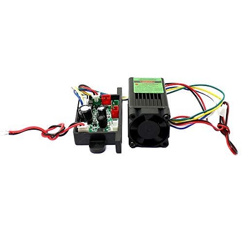 12V Grün-Laser-532nm 100mW Dot Modullüfter Kühlung TTL 0-30 KHZ-langen Zeit