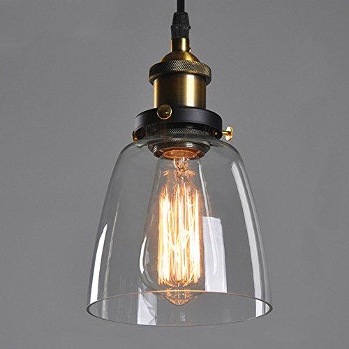 Techo transparente cortina de cristal araña de reequipamiento lámpara de techo de sombra (E27, solo pantalla, no hay bombillas)
