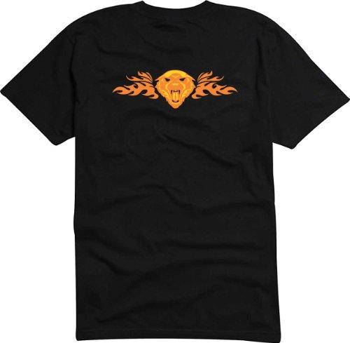 T-Shirt Herren wilde Löwen Schwarz