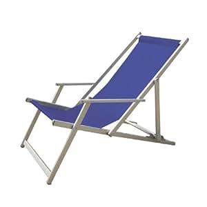 sedie in alluminio con braccioli e tessuto textilene in blu PLAYA ...