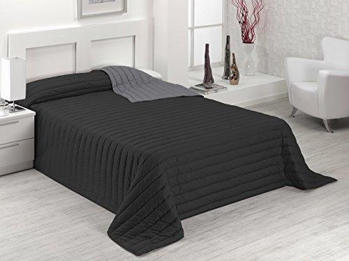 Sabanalia tutto copriletto winter e misure (disponibile in diversi colori)–biancheria da letto 200–300x 270, colore: nero/grigio