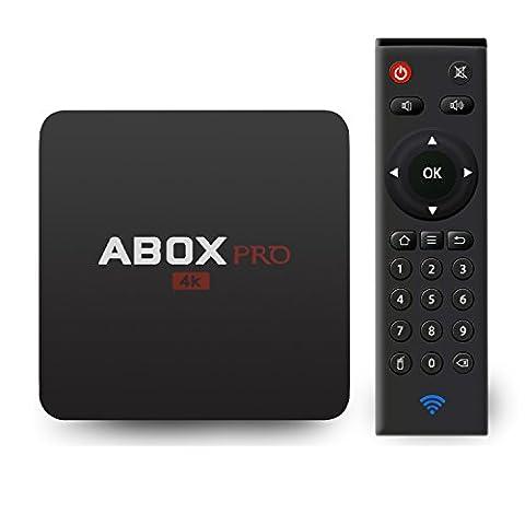 [Version Pure] 2017 Globmall ABOX Pro 6.0 Android TV Box avec la dernière RF Télécommande (15 Mètres de Portée de Travail, Contrôle Complet de 360°,Pas besoin de Point à la TV