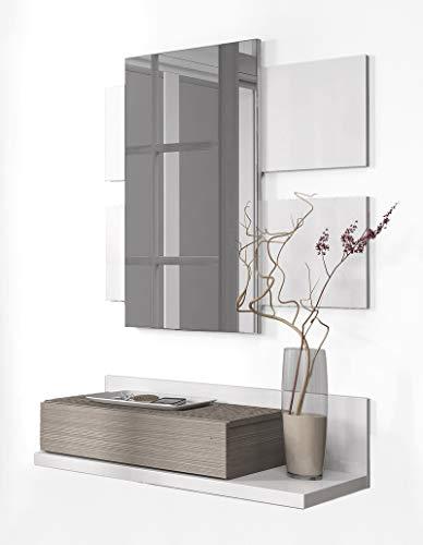 Habitdesign 0B6742BO - Recibidor cajón + Espejo