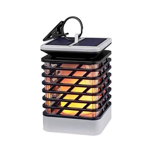 (QTDH LED Solar Flame Light - Outdoor Hängende Solarleuchten - Wasserdichte Solar Gartenleuchten, On/Off Landschaftsdekoration Nachtlicht Lampe)