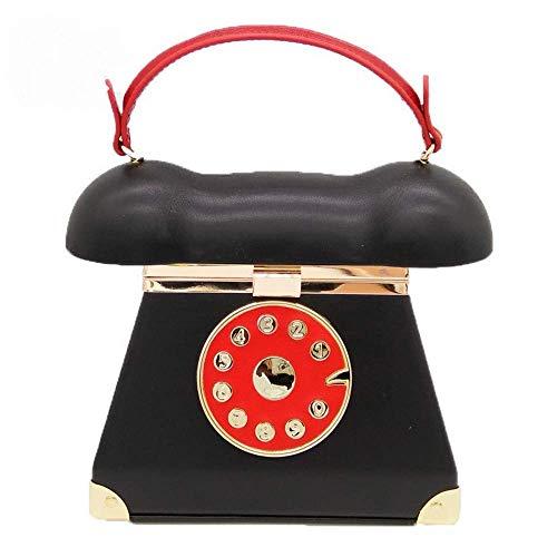 Tasche Hochwertige Clutch Handtaschen abnehmbare Schultergurt Damenhygieneprodukte Kosmetik Kleine Necessities Formal Affairs Beherbergungs Leder (Color : Black)